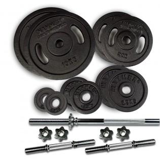 Комплект щанга и дъмбели 53 кг, чугунени (Ø 30 mm) от HAMMER